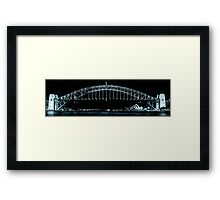 Sydney Harbour Bridge and Opera House Framed Print