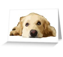 Chillin Pup  Greeting Card