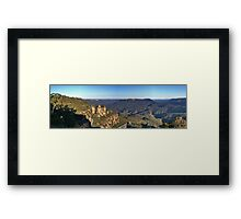 The Three Sisters & Jamison Valley Framed Print