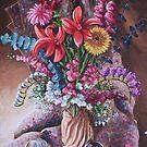 Vase of flowers by Dan Wilcox