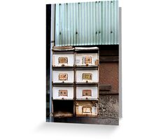 rustic letterboxes Greeting Card