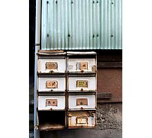 rustic letterboxes Photographic Print