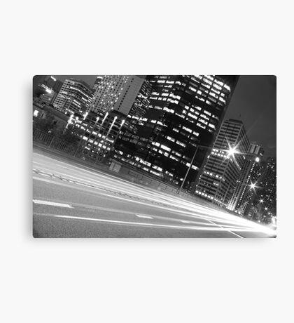 SYDNEY STREEEET LIGHTS B&W Canvas Print