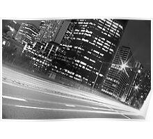 SYDNEY STREEEET LIGHTS B&W Poster