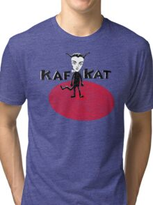 Kafka Cat Metamorphosis Tri-blend T-Shirt