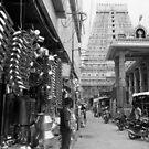 A market street in Tiruvannalamai, India by Syd Winer