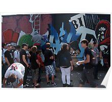 berlin wall art Poster