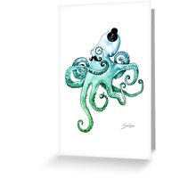 Monocle Octopus Greeting Card