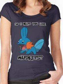 So I heard you like Mudkips? Women's Fitted Scoop T-Shirt