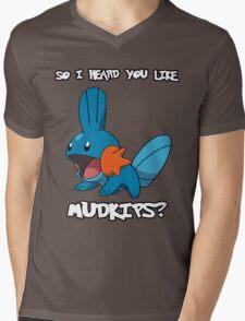 So I heard you like Mudkips? [White Text] Mens V-Neck T-Shirt