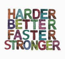 harder, better, faster, stronger Kids Clothes