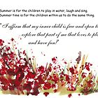 Affirmation for MY INNER CHILD by Maree Clarkson