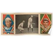 Benjamin K Edwards Collection Charles A Bender Ira Thomas Philadelphia Athletics baseball card portrait Poster