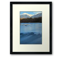 The mighty Sava river Framed Print