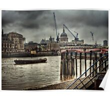 St Pauls in the rain Poster