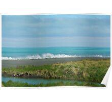 Coastline South Island New Zealand Poster