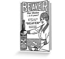 Beaver Sauce Card Greeting Card