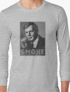 Smoke! Funny Obama Hope Parody (Smoking Man)  Long Sleeve T-Shirt