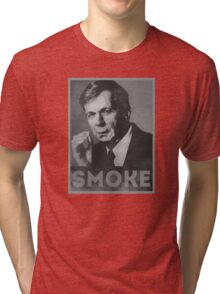 Smoke! Funny Obama Hope Parody (Smoking Man)  Tri-blend T-Shirt