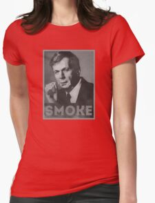 Smoke! Funny Obama Hope Parody (Smoking Man)  Womens Fitted T-Shirt