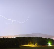 Lightning over Ljubljana by Ian Middleton