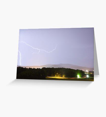 Lightning over Ljubljana Greeting Card