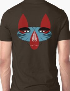 Coyote the Trickster in red, black and white T-Shirt