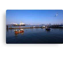 The Port Of Harwich Canvas Print