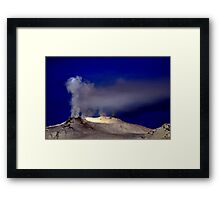 All are smoking in the deep blue Framed Print
