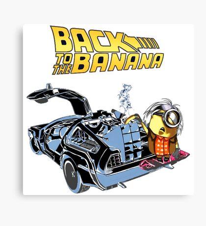 Back To The Banana Future Canvas Print