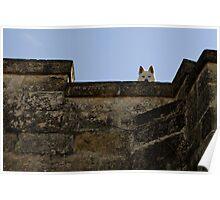 Watching, The Sassi Quarter, Matera, Basilicata, Italy Poster
