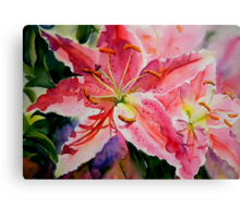 Birthday Lilies Canvas Print