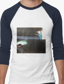 The night starts to walk Men's Baseball ¾ T-Shirt