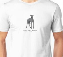 Grey retired racing greyhound Unisex T-Shirt