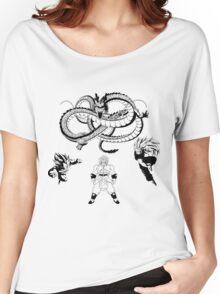 Brolly Vs Goku & Vegeta - Under The Eternal Dragon (Manga Style) Women's Relaxed Fit T-Shirt