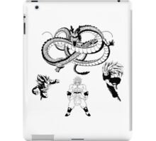 Brolly Vs Goku & Vegeta - Under The Eternal Dragon (Manga Style) iPad Case/Skin