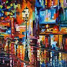 DOWNTOWN LIGHTS - LEONID AFREMOV by Leonid  Afremov