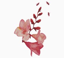 Pink Blossoms Tee by Robin Monroe