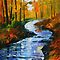 AUTUMN STREAM - LEONID AFREMOV by Leonid  Afremov