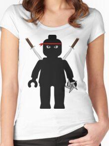 Ninja Minifig / TMNT Foot Soldier Women's Fitted Scoop T-Shirt