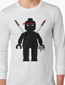 Ninja Minifig / TMNT Foot Soldier Long Sleeve T-Shirt
