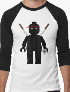 Ninja Minifig / TMNT Foot Soldier Men's Baseball ¾ T-Shirt