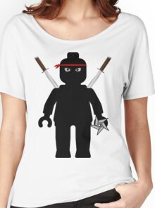 Ninja Minifig / TMNT Foot Soldier Women's Relaxed Fit T-Shirt