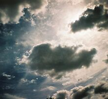 Dramatic cloudy sky by Holly Burns
