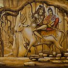 Shiva Parvati Ganesha by Vrindavan Das