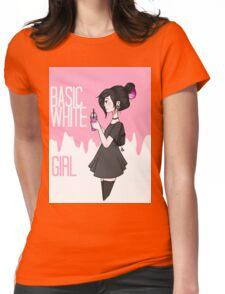 Basic White Girl Womens Fitted T-Shirt