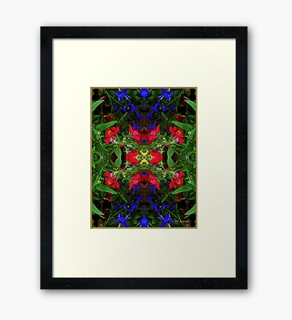 Fidelity - Card VII from The Tarot of Flowers Framed Print
