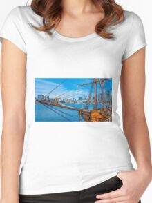 Ships Ahoy at Docklands Women's Fitted Scoop T-Shirt