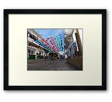 Street Scape - En La Calle Framed Print