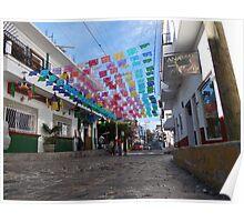 Street Scape - En La Calle Poster